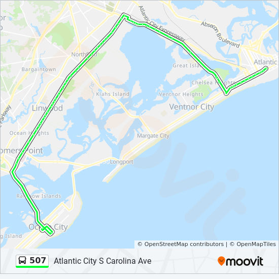 507 Route Time Schedules Stops Amp Maps Atlantic City S