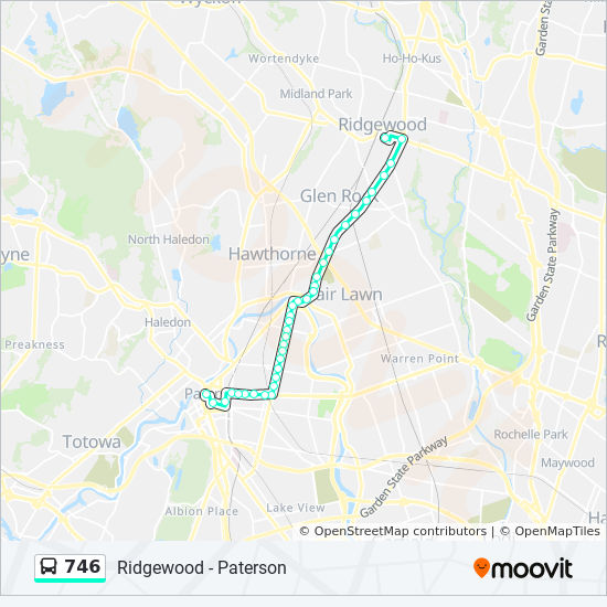Ridgewood New Jersey Map.746 Route Time Schedules Stops Maps 746 Ridgewood Bus Terminal