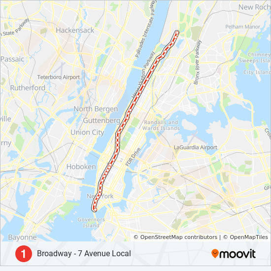 New York City Subway Map With Street Names.1 Route Time Schedules Stops Maps Uptown Bronx