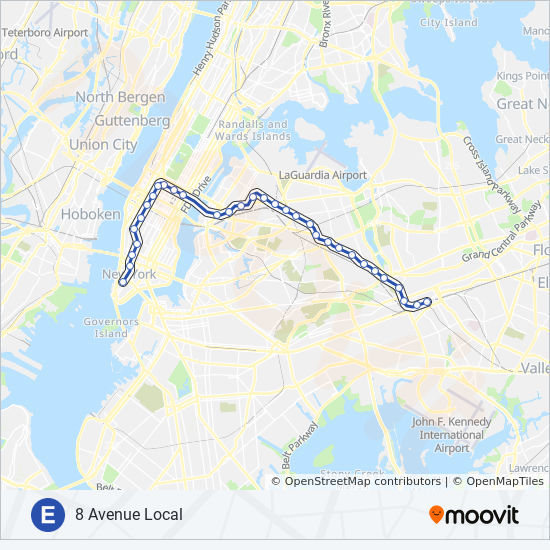 Subway Map Nyc Mta Download.E Route Time Schedules Stops Maps Uptown Queens