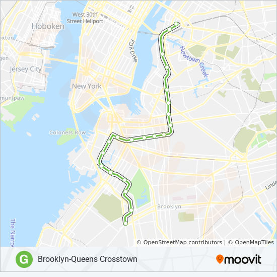 G Train Subway Map.G Route Time Schedules Stops Maps Downtown Brooklyn