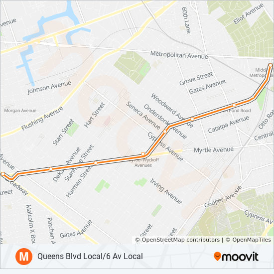 M Route Time Schedules Stops Maps Uptown Queens
