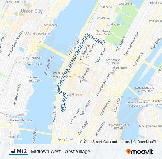 M12 Route Time Schedules Stops Maps West Village Abingdon Sq