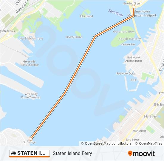 Staten Island Ferry Route Time Schedules Stops Maps Manhattan
