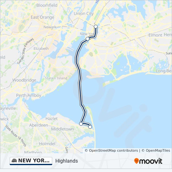 NEW YORK CITY & NEW JERSEY Route: Time Schedules, Stops ...