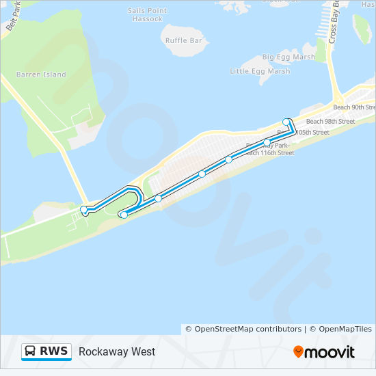 RWS Route: Time Schedules, Stops & Maps - Rockaway