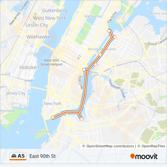 Astoria Nyc Map.As Route Time Schedules Stops Maps