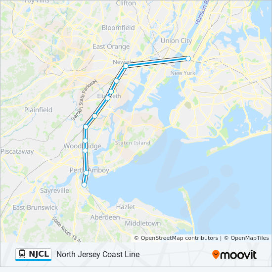 NJCL Route: Schedules, Stops & Maps - New York Penn Station