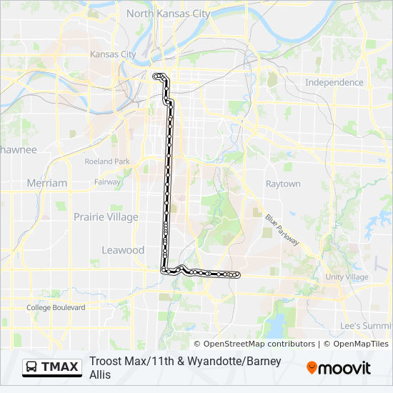 Tmax Route Time Schedules Stops Amp Maps Troost Max 75th