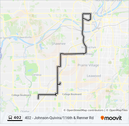 Lenexa Kansas Map.402 Route Time Schedules Stops Maps 402 Johnson Quivira