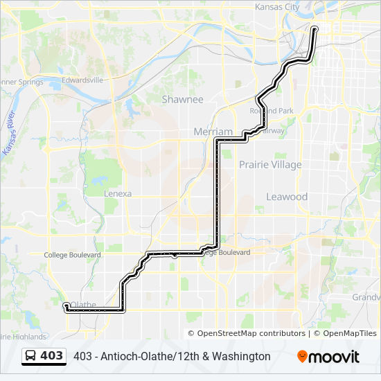 Lenexa Kansas Map.403 Route Time Schedules Stops Maps 403 Antioch Olathe 12th