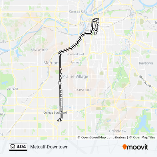 404 Route: Time Schedules, Stops & Maps - 404 - Metcalf ...