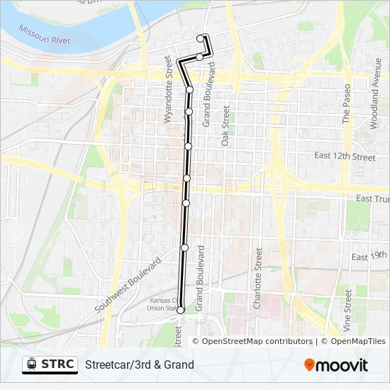 STRC Route: Time Schedules, Stops & Maps - Streetcar/3rd & Grand on kansas city area casinos map, boston area road map, branson area road map, kansas city highway map, kansas state highway road map, western kansas road map, greenwood county kansas road map, calgary area road map, geary county kansas road map, oklahoma city road map, kansas city ks map, madison area road map, barton county kansas road map, kansas city rail map, kansas city mo map, kansas city metro zip code map, greater kansas city area map, kansas city street map, kansas city map with cities, kansas city google map,
