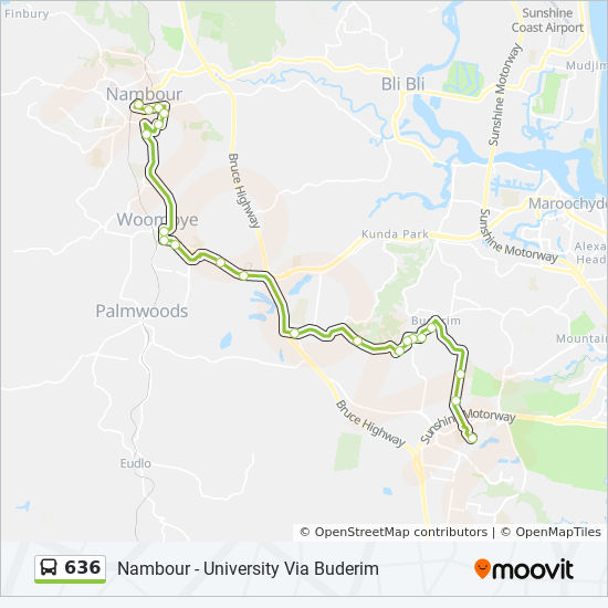 636 Route: Schedules, Stops & Maps - Nambour Station on map of misty mountains, map of hobbiton, map of rivendell, map of edoras, map of lothlorien, map of arnor, map of mount doom, map of mordor, map of dunland, map of scott, map of moria, map of colo river, map of lonely mountain, map of angmar, map of minas tirith, map of annuminas, map of trollshaws, map of nimh, map of isengard, map of gondolin,