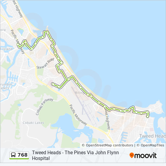768 Route Schedules Stops Amp Maps The Pines Shopping Centre