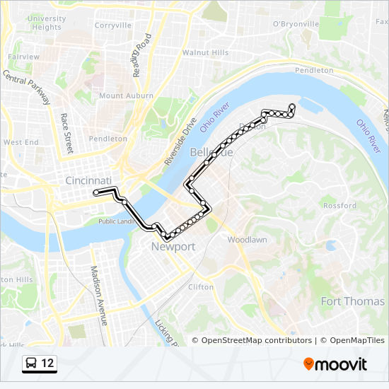 12 Route: Time Schedules, Stops & Maps - Cincinnati on midwest map, cleveland map, ohio map, columbus map, new orleans map, nyc map, masury map, ohio river, downtown cincinnati, indianapolis map, st. louis map, cincinnati/northern kentucky international airport, chicago map, university of cincinnati, milwaukee map, kentucky map, cincinnati bengals, hamilton county neighborhood map, fairfield map, pittsburgh map, cincinnati reds, jakarta map, minneapolis map, john a. roebling suspension bridge, montgomery oh map, maine map, los angeles map, hamilton county,