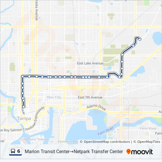 6 Bus Line Map