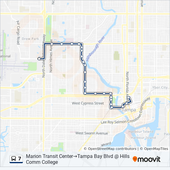 7 Route: Time Schedules, Stops & Maps - Tampa Bay Blvd ...