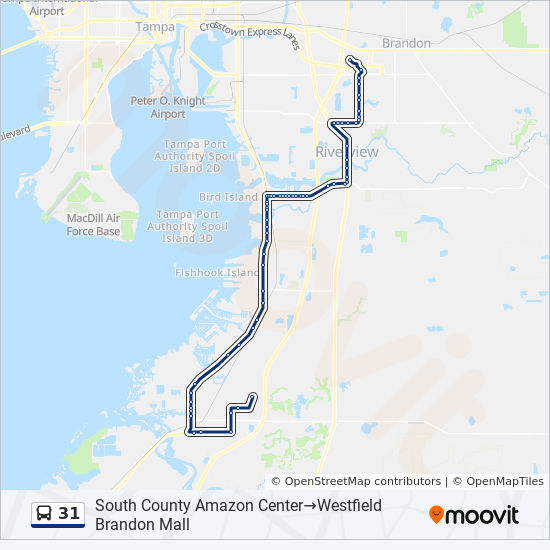 31 Route Time Schedules Stops Maps Westfield Brandon Mall