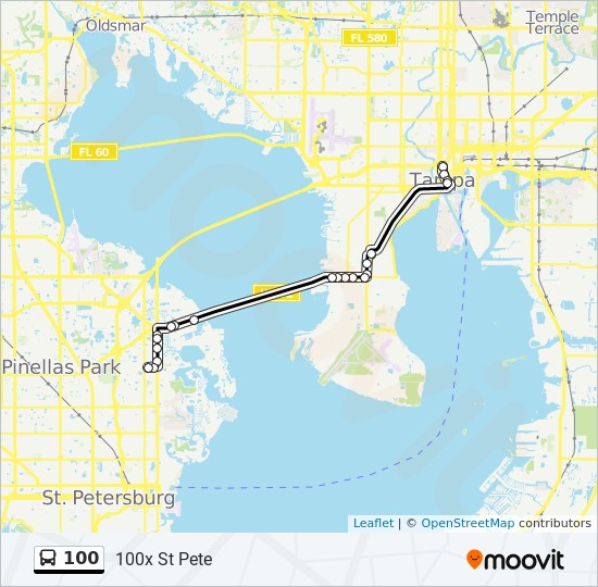 100 Route: Time Schedules, Stops & Maps - 100x St Pete on