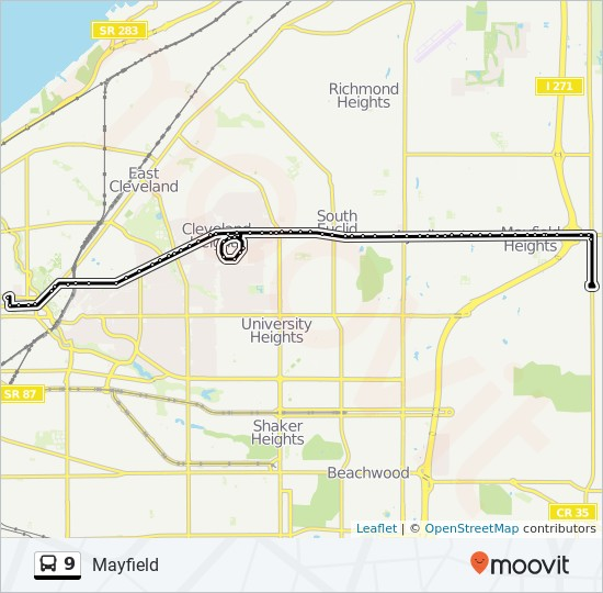 Mayfield Ohio Map.9 Route Time Schedules Stops Maps 9 Cleveland Clinic