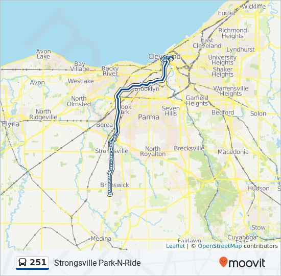 251 Route: Time Schedules, Stops & Maps - 251 Brunswick Via Park-N-Ride