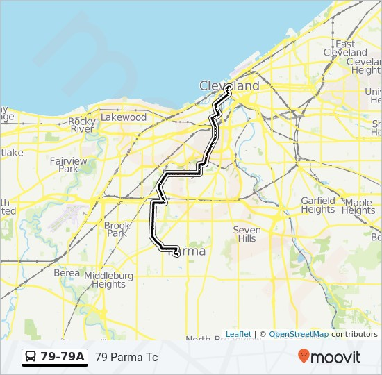 79 79a Route Time Schedules Stops Amp Maps 79 Parma Tc