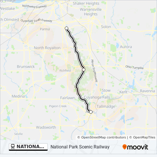 NATIONAL PARK SCENIC RAILWAY Route: Time Schedules, Stops & Maps ...