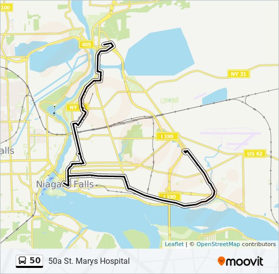 50 Route Time Schedules Stops Amp Maps 50a St Marys