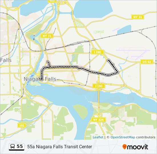 Niagara Falls Transit Map 55 Route: Time Schedules, Stops & Maps   55a Niagara Falls Transit