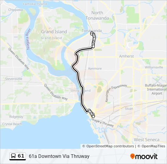 61 Route: Time Schedules, Stops & Maps - 61a Downtown Via