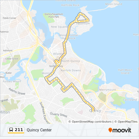 211 Route Time Schedules Stops Amp Maps Quincy Center