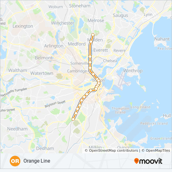 Subway Map Boston Pdf.Orange Line Route Time Schedules Stops Maps Forest Hills