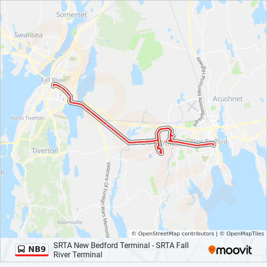 NB9 Route: Time Schedules, Stops & Maps - New Bedford SRTA ...