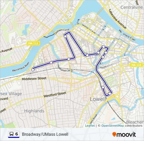 6 Route Time Schedules Stops Maps Umass