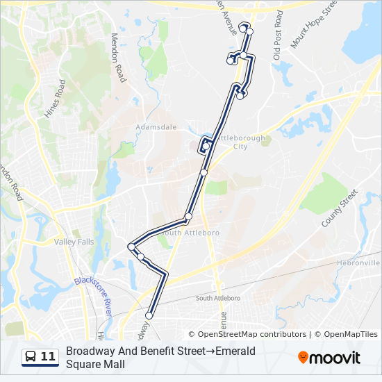 11 Route: Time Schedules, Stops & Maps