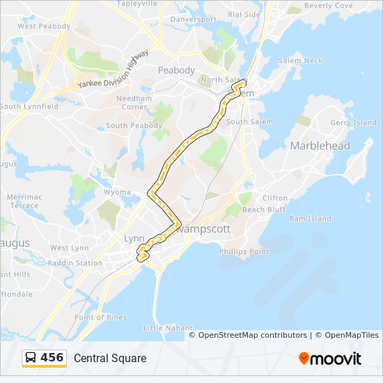 456 Route: Time Schedules, Stops & Maps - Salem Depot