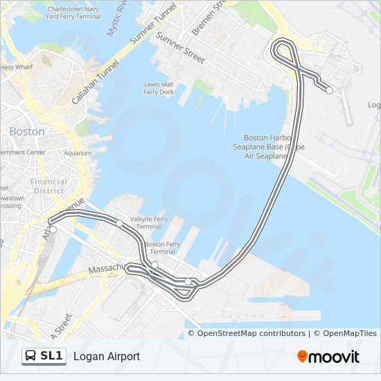 SL1 Route: Time Schedules, Stops & Maps - Logan Airport