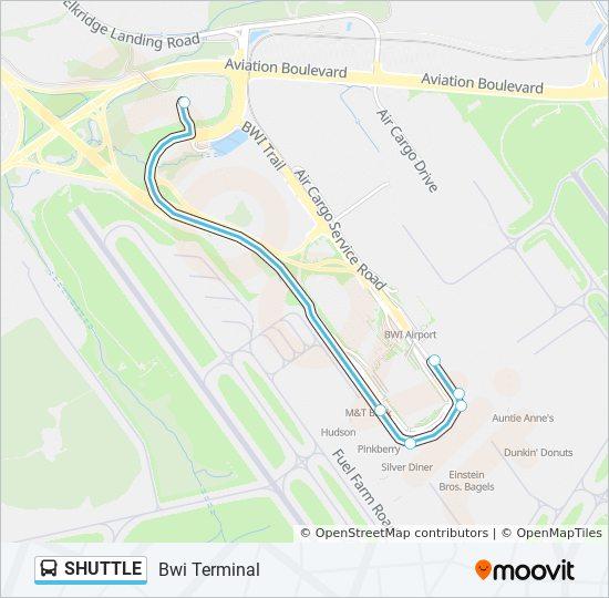 Baltimore airport terminal map