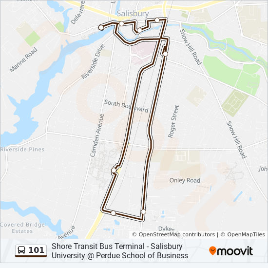 101 Route: Time Schedules, Stops & Maps - Salisbury University ...