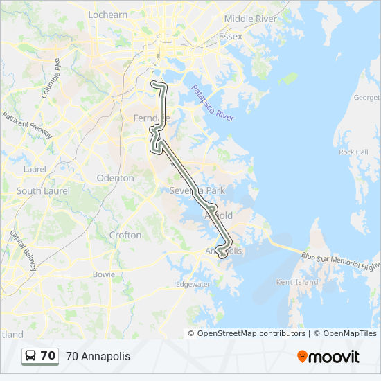 Aacc Main Campus Map.70 Route Time Schedules Stops Maps 70 Annapolis