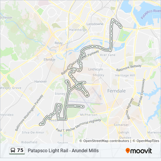 75 Route: Time Schedules, Stops & Maps - 75 Arundel Mills ...