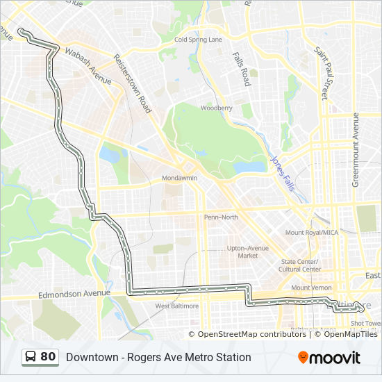 80 Route Time Schedules Stops Amp Maps 80 Downtown