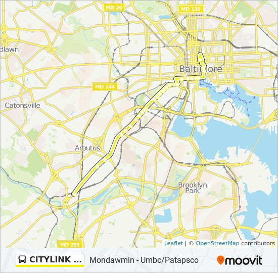 CITYLINK YELLOW Route: Time Schedules, Stops & Maps - Yw