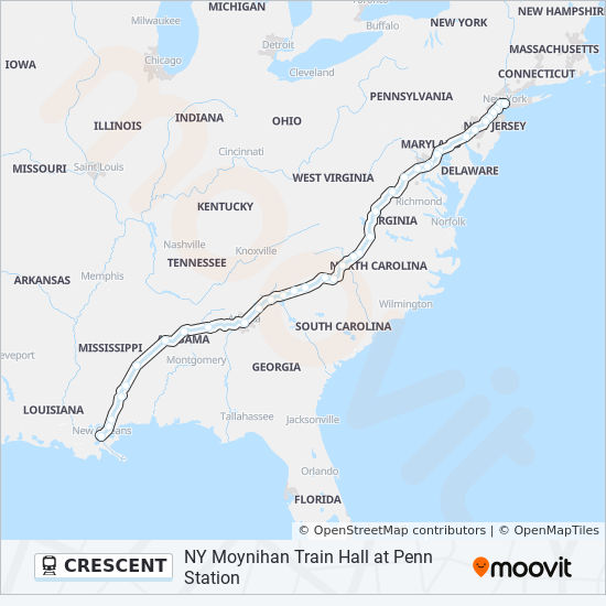 CRESCENT Route: Time Schedules, Stops & Maps - New Orleans
