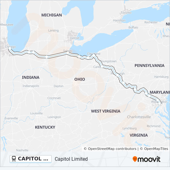Capitol Limited Route Time Schedules Stops Maps Chicago Union