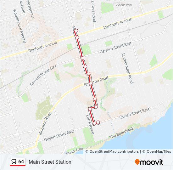 Rota Da Linha 64 Horarios Estacoes E Mapas Main Street Station