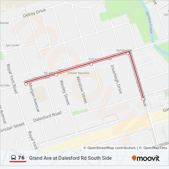 76 Route: Time Schedules, Stops & Maps - Grand Ave at