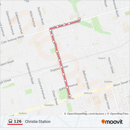 126 Route: Time Schedules, Stops & Maps - Christie Station