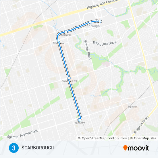 Toronto Subway Map App.3 Route Time Schedules Stops Maps To Kennedy